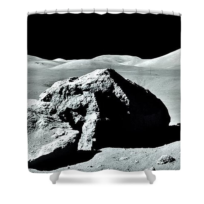 Moon Shower Curtain featuring the photograph Out For A Drive by Benjamin Yeager