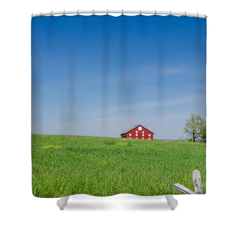 Barn Shower Curtain featuring the photograph Out In The Big Wide Open by Guy Whiteley