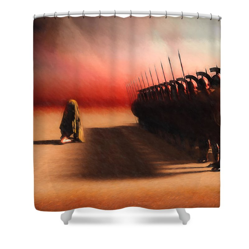 Egypt Shower Curtain featuring the painting Out Of Egypt by Bob Orsillo