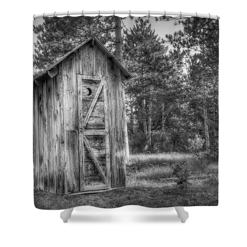 Outhouse Shower Curtain featuring the photograph Outdoor Plumbing by Scott Norris