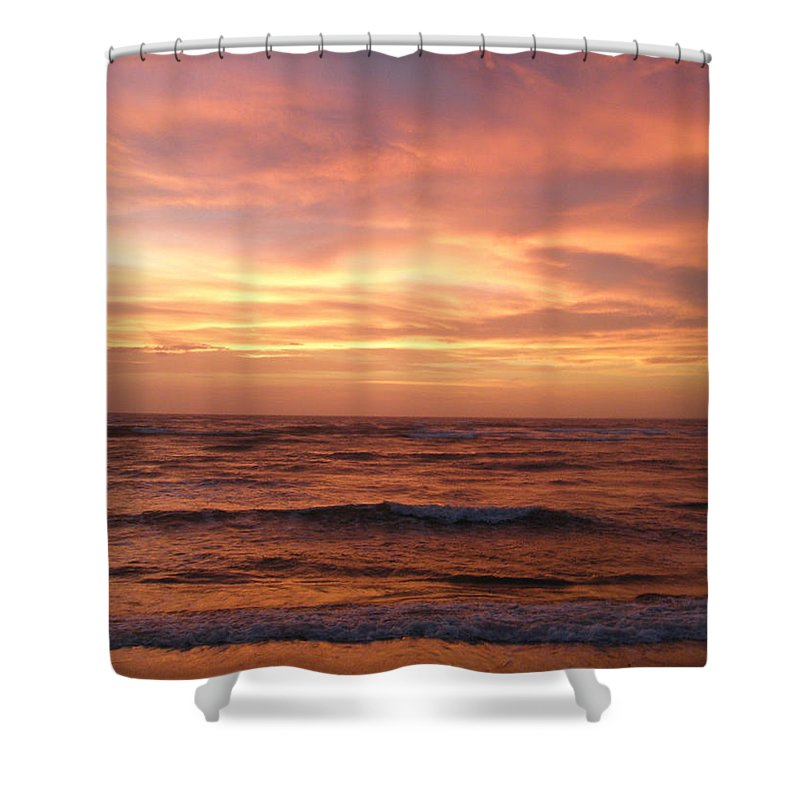 Sunset Shower Curtain featuring the photograph Outer Banks Sunset - Buxton - Hatteras Island by Mother Nature