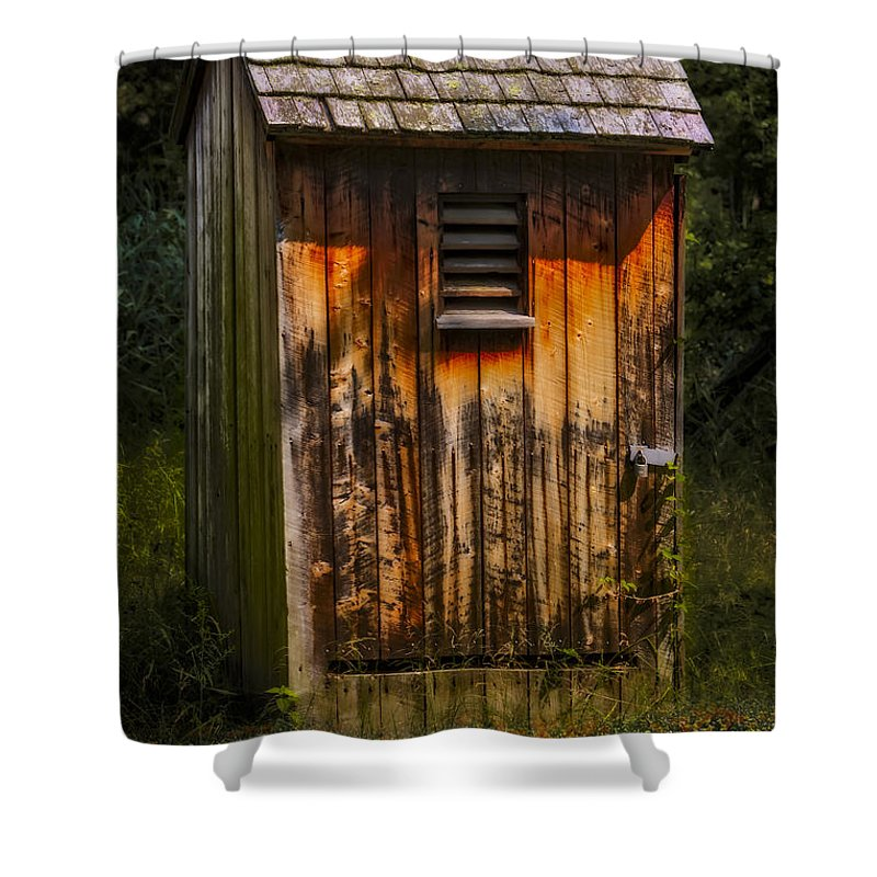 Outhouse Shower Curtain Featuring The Photograph Shack By Susan Candelario