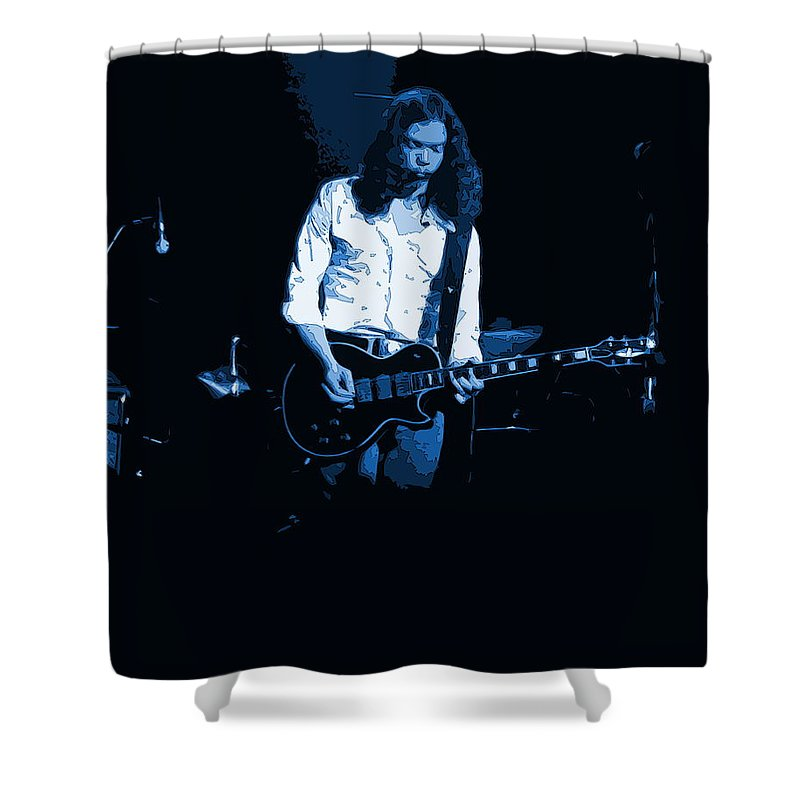Outlaws Shower Curtain featuring the photograph Outlaws #12 Art Blue 2 by Ben Upham