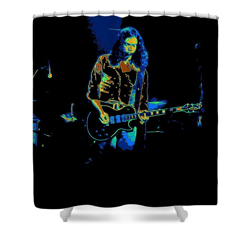 Outlaws Shower Curtain featuring the photograph Outlaws #12 Art Psychedelic 2 by Ben Upham
