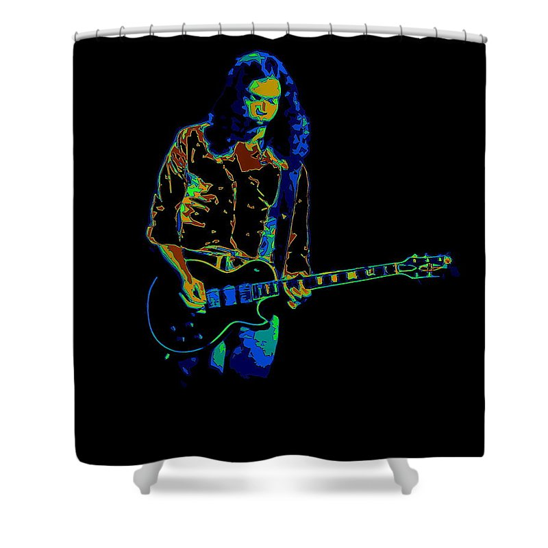 Outlaws Shower Curtain featuring the photograph Outlaws #12 Art Psychedelic by Ben Upham