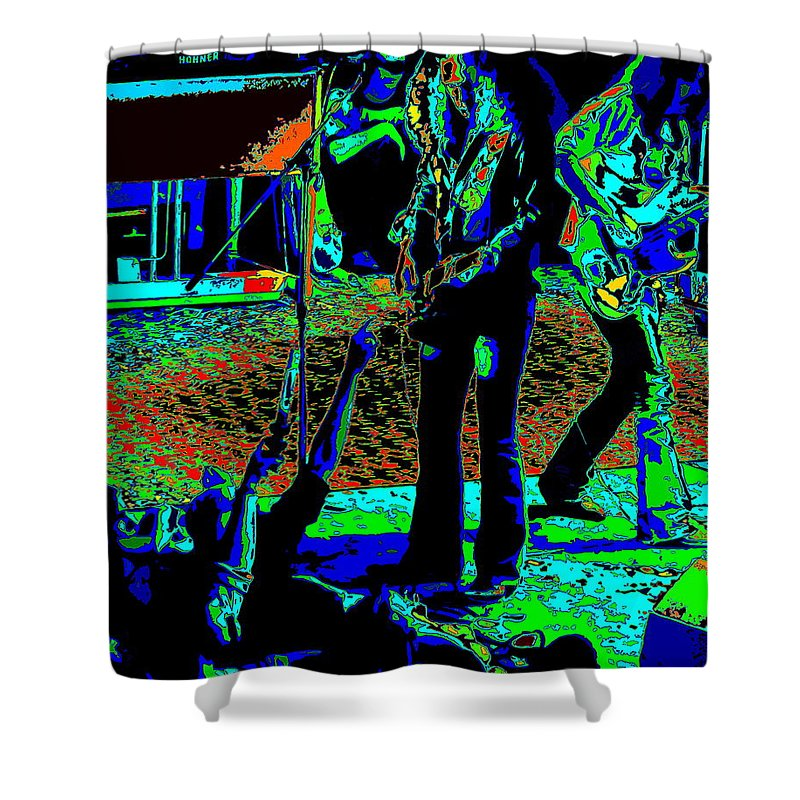 Outlaws Shower Curtain featuring the photograph Outlaws #16 Art Psychedelic by Ben Upham
