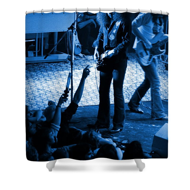 Outlaws Shower Curtain featuring the photograph Outlaws #16 Blue by Ben Upham