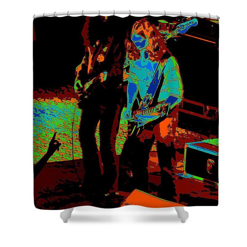 Outlaws Shower Curtain featuring the photograph Outlaws #18 Art Cosmic by Ben Upham III