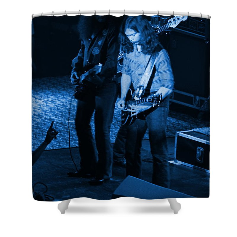 Outlaws Shower Curtain featuring the photograph Outlaws #18 Blue by Ben Upham