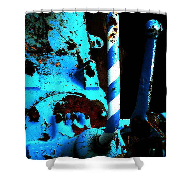 Abstract Shower Curtain featuring the photograph Over The Top by Newel Hunter