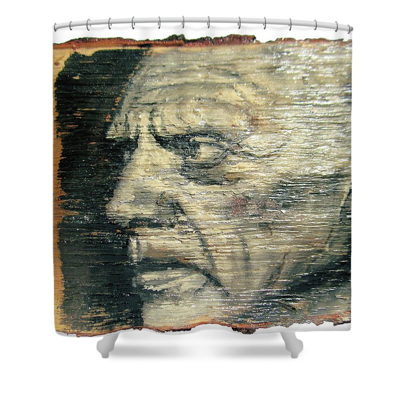 Picasso Shower Curtain Featuring The Painting Pablo Face Portrait