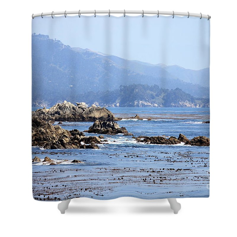 Ocean Shower Curtain featuring the photograph Pacific Blues by Carol Groenen