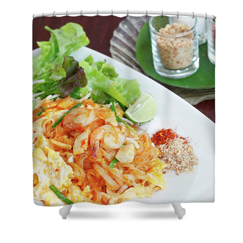 Prawn Shower Curtain featuring the photograph Pad Thai by Tommyix