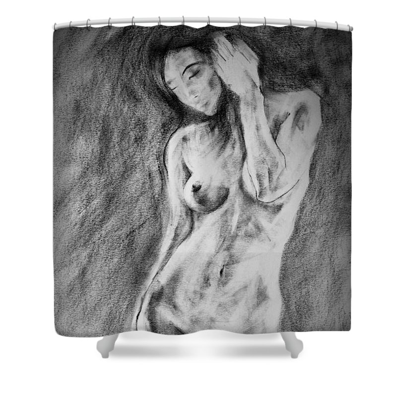 Erotic Shower Curtain featuring the drawing Page 18 by Dimitar Hristov