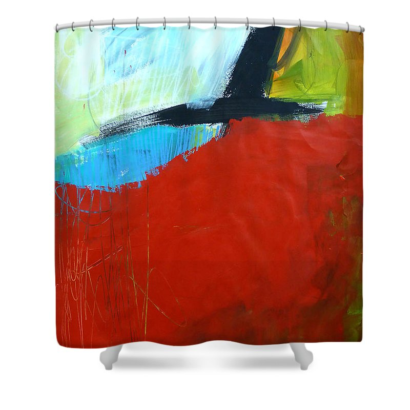 Keywords: Abstract Shower Curtain featuring the painting Paint Improv 11 by Jane Davies