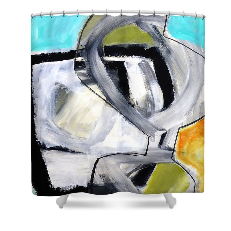 Keywords: Abstract Shower Curtain featuring the painting Paint Improv 12 by Jane Davies