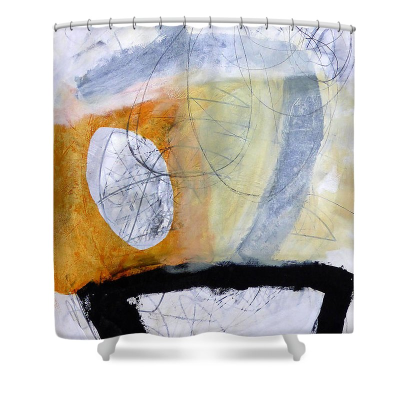 Keywords: Abstract Shower Curtain featuring the painting Paint Improv 3 by Jane Davies