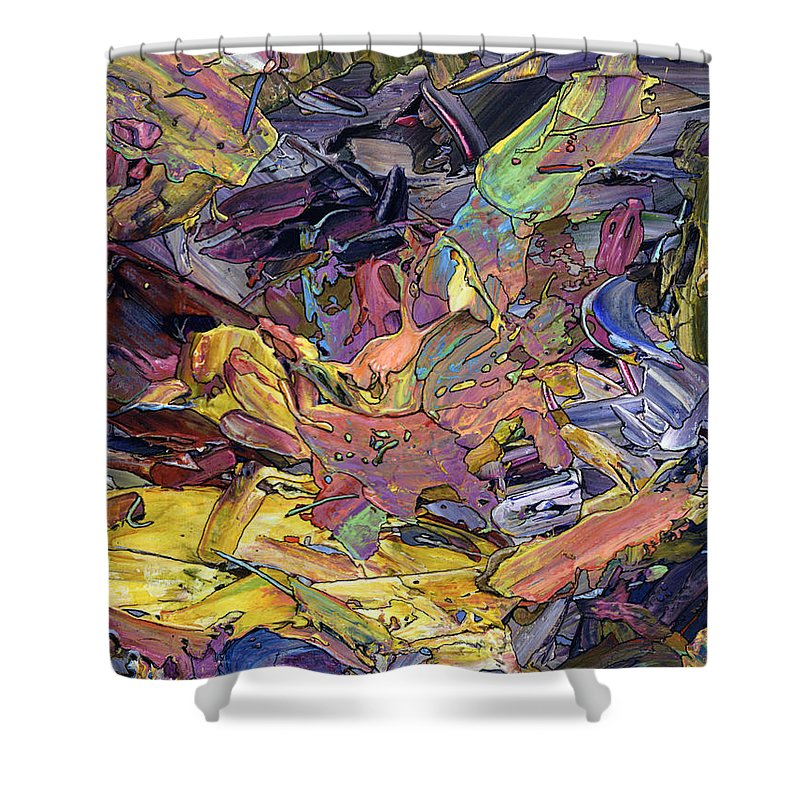 Abstract Shower Curtain featuring the painting Paint Number 60 by James W Johnson