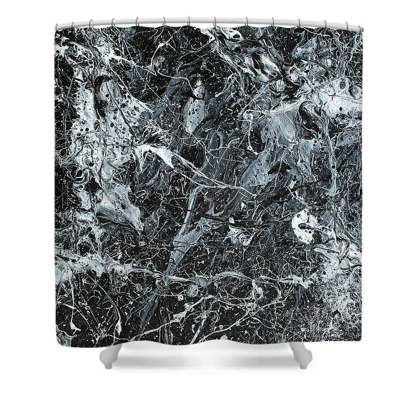 Acrylic Shower Curtain featuring the painting Paint Number Twenty Six by Ric Bascobert