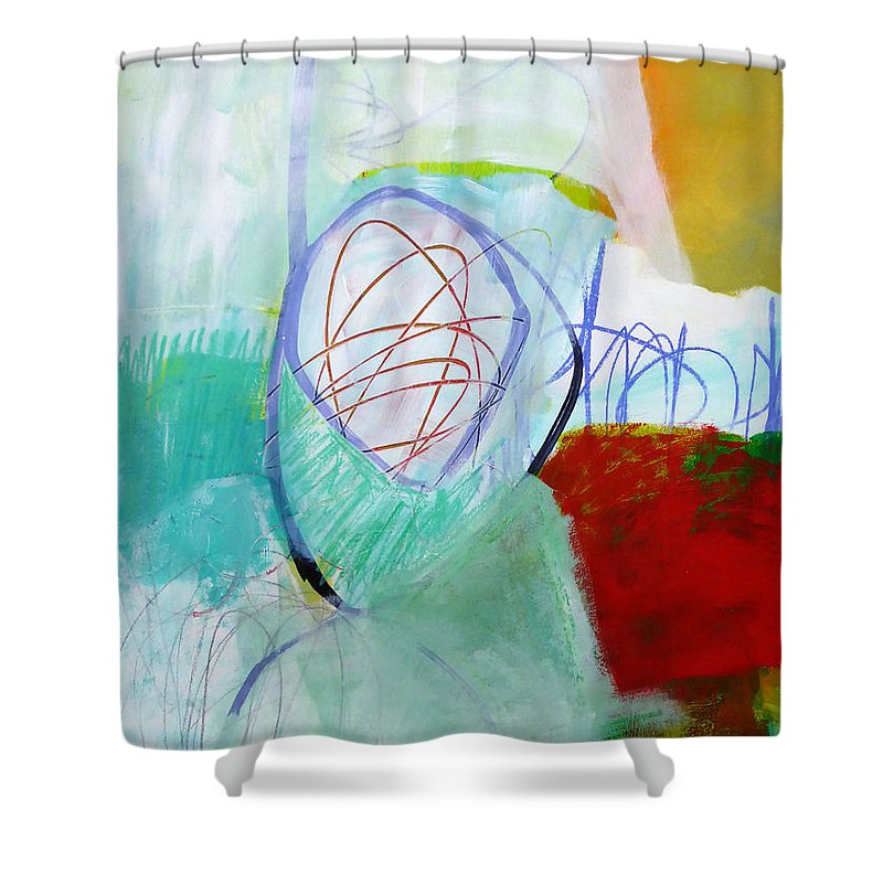 Keywords: Abstract Shower Curtain featuring the painting Paint Solo 2 by Jane Davies