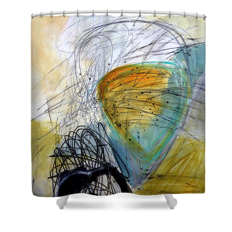 Keywords: Abstract Shower Curtain featuring the painting Paint Solo 7 by Jane Davies