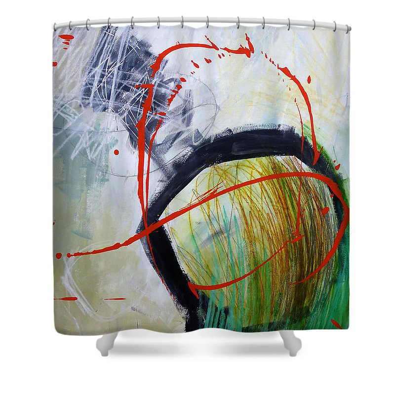 Keywords: Abstract Shower Curtain featuring the painting Paint Solo 8 by Jane Davies