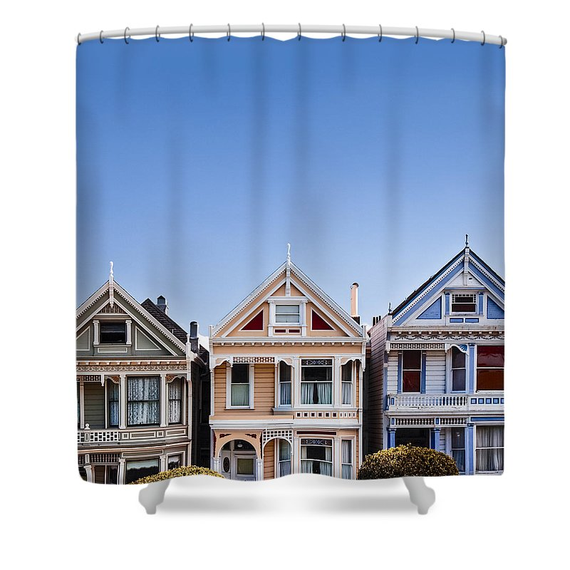 Painted Ladies Shower Curtain featuring the photograph Painted Ladies by Dave Bowman