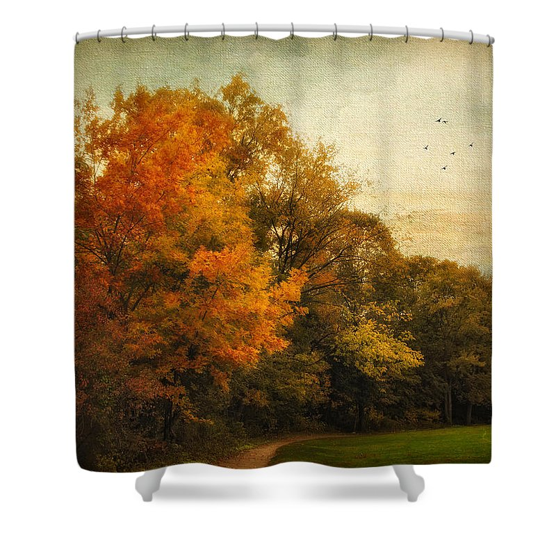 Nature Shower Curtain featuring the photograph Painted Path by Jessica Jenney