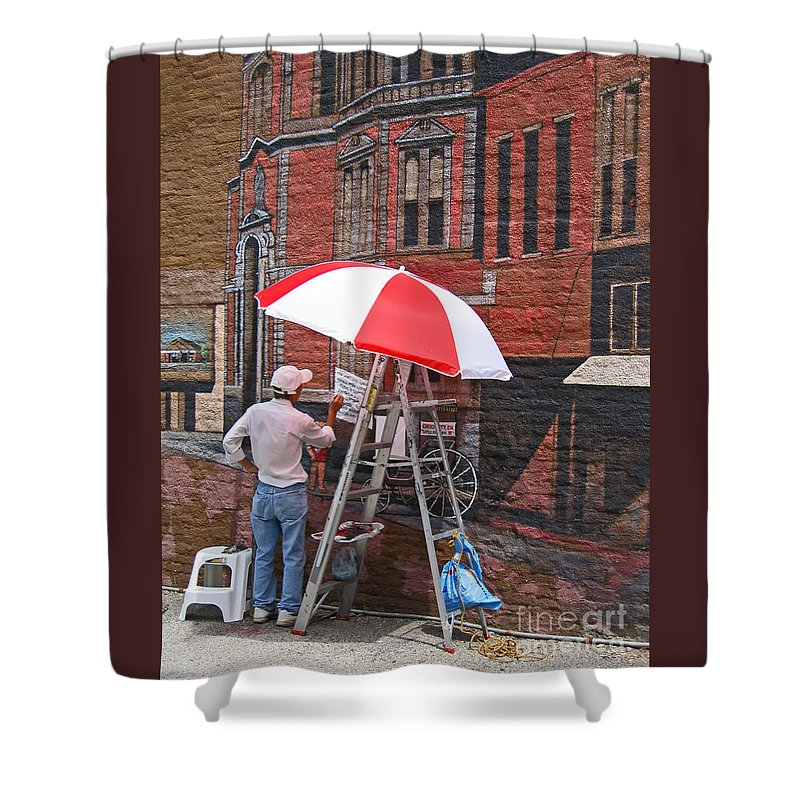 Artist Shower Curtain featuring the photograph Painting The Past by Ann Horn