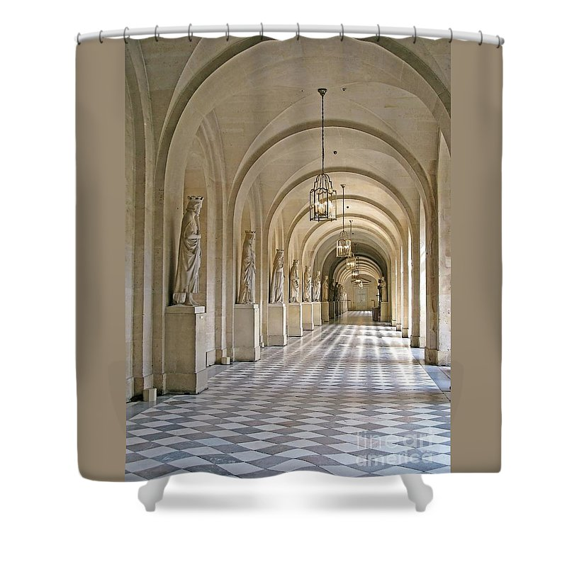 Versailles Shower Curtain featuring the photograph Palace Corridor by Ann Horn