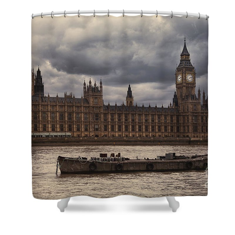 Shower Curtain featuring the photograph Palace Of Westminster by Istvan Kadar