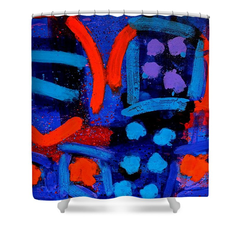 Irish Art Shower Curtain featuring the painting Palimpsest 006 by John Nolan