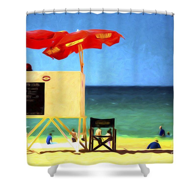 Palm Beach Shower Curtain featuring the photograph Palm Beach Sydney by Sheila Smart Fine Art Photography