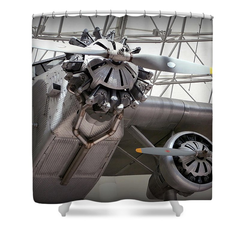 Pan Am Shower Curtain Featuring The Photograph Airplane By Karyn Robinson