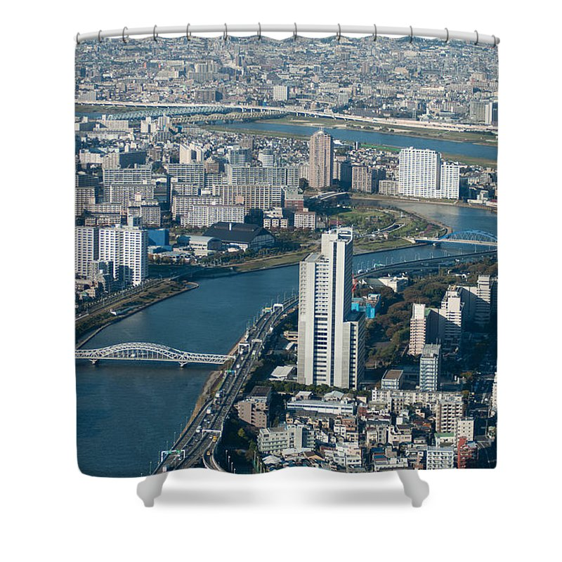City Shower Curtain featuring the photograph Panorama Of Tokyo by Jill Mitchell