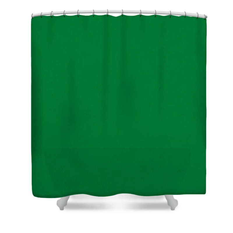 Pantone Shower Curtain Featuring The Mixed Media Pantone 348 Forest Green  Color On Worn Canvas By