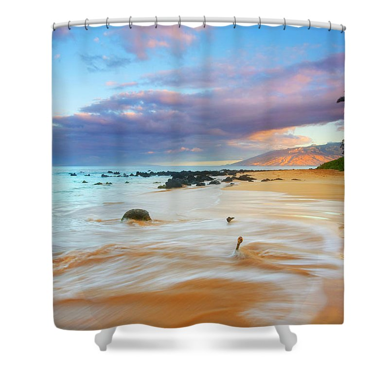 Sunrise Shower Curtain featuring the photograph Paradise Dawn by Mike Dawson