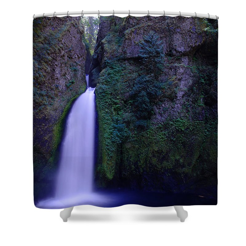 Waterfalls Shower Curtain featuring the photograph Paradise Pours Wanclella Falls Oregon by Jeff Swan