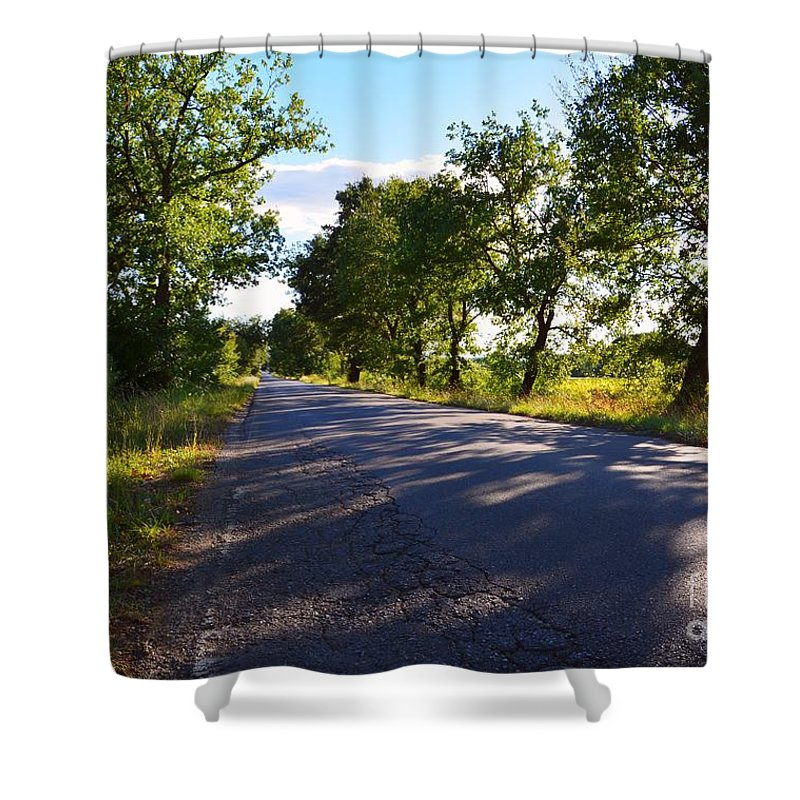 Drive Shower Curtain featuring the photograph Paradise Road by Ramona Matei
