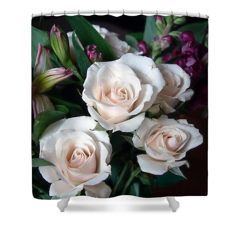 Flowers Shower Curtain featuring the photograph Pardon My Blush by RC DeWinter