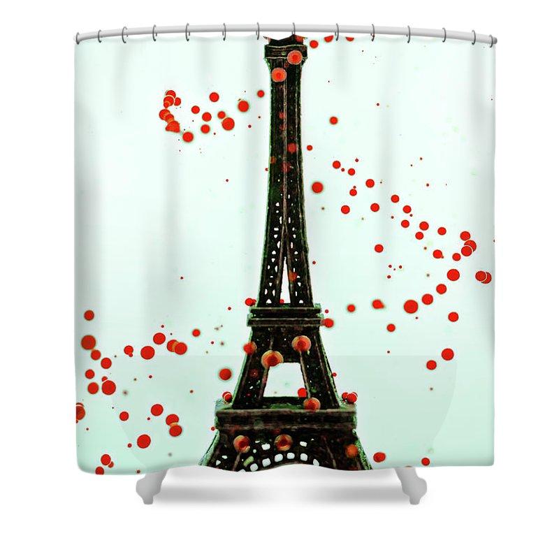 Replica Eiffel Tower Shower Curtain featuring the photograph Paris by Dina Belenko Photography