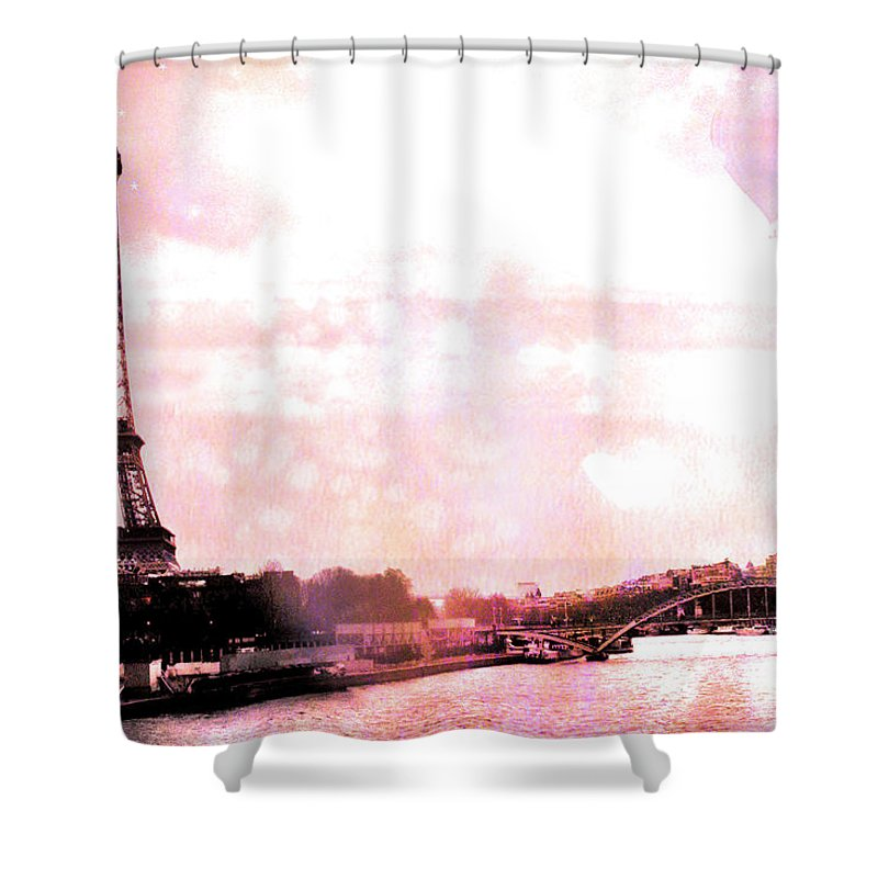 Eiffel Tower Shower Curtain Featuring The Photograph Paris Pink