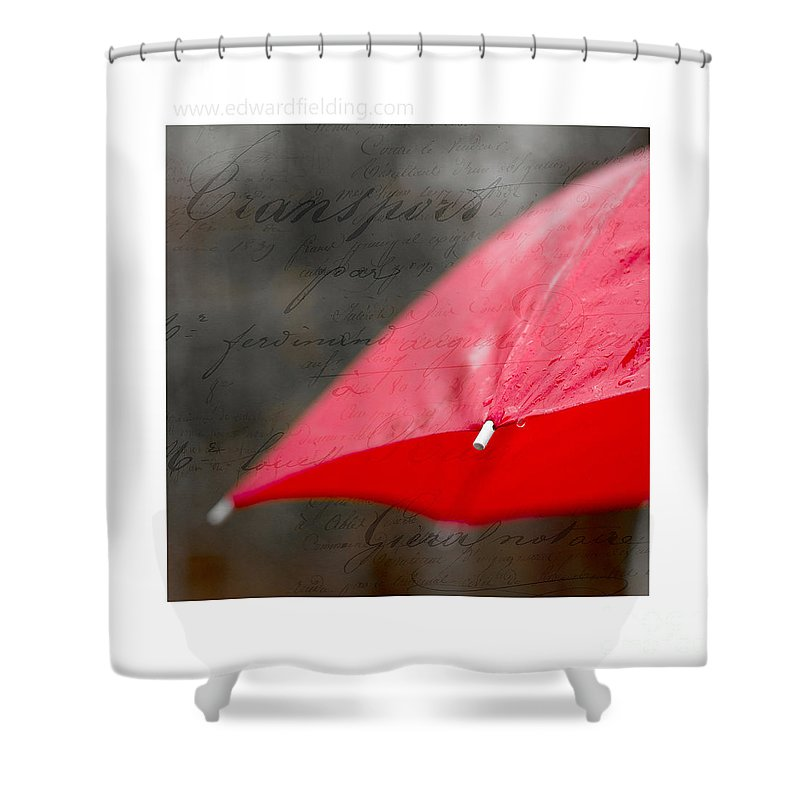 Free Shipping Shower Curtain featuring the photograph Paris Rains Original Signed Mini by Edward Fielding