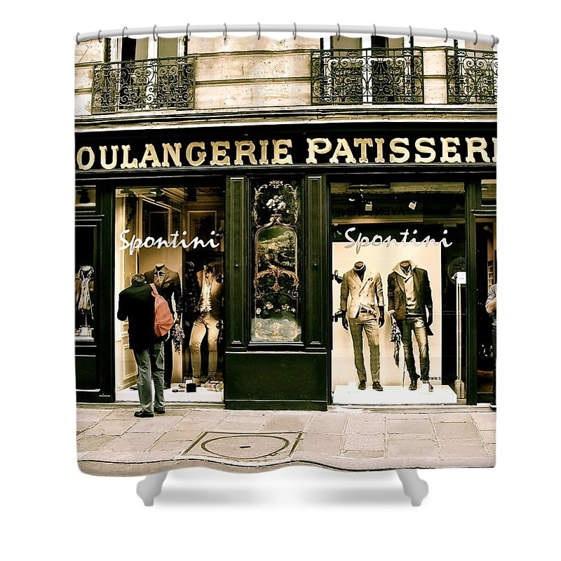 Paris Shower Curtain featuring the photograph Paris Waiting by Ira Shander