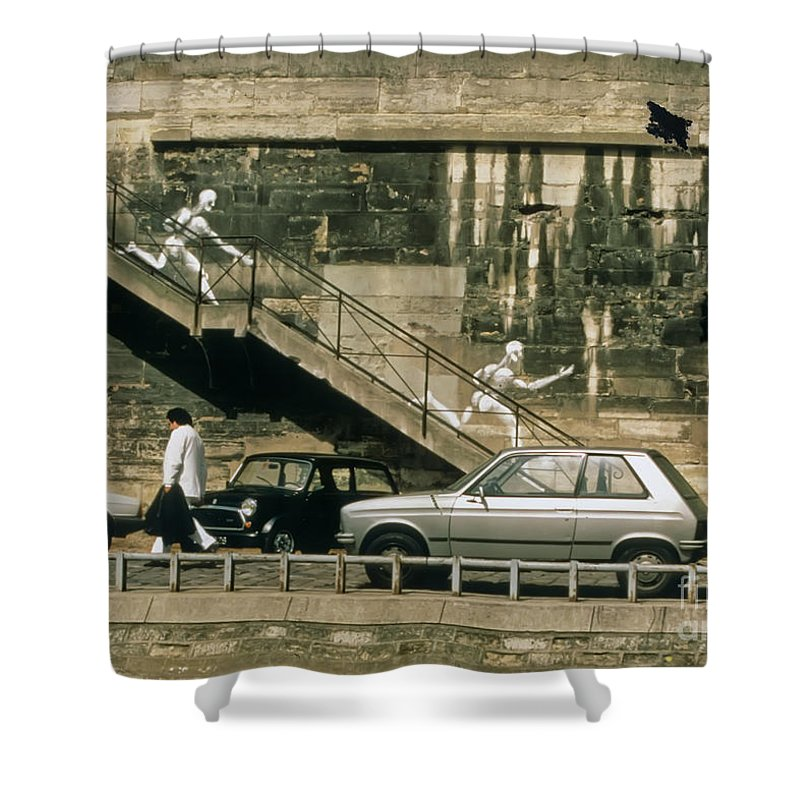 Paris Shower Curtain featuring the photograph Paris Wall by Thomas Marchessault