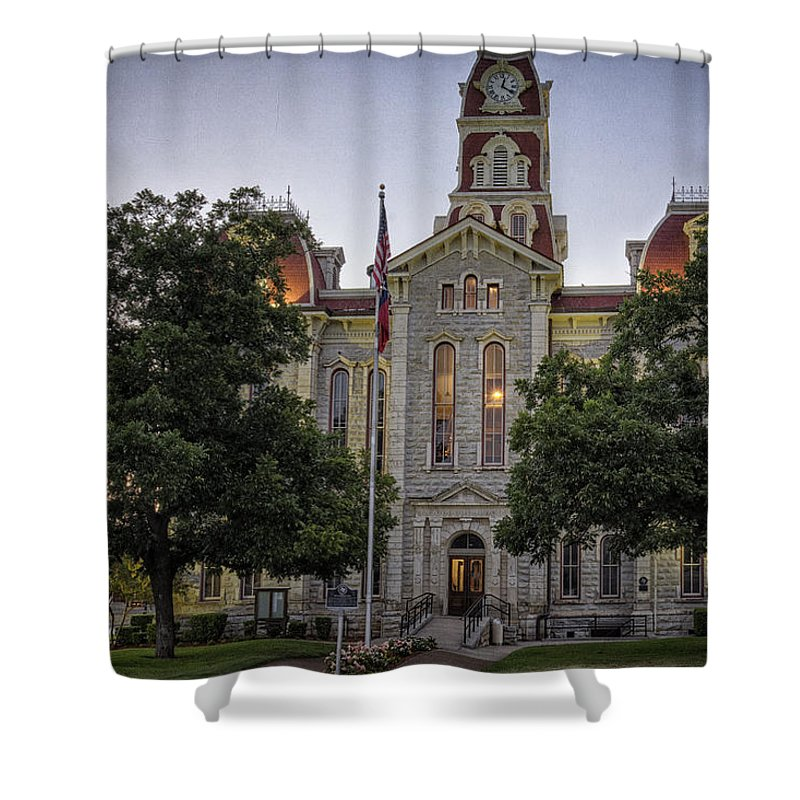 Weatherford Shower Curtain featuring the photograph Parker County Courthouse by Joan Carroll