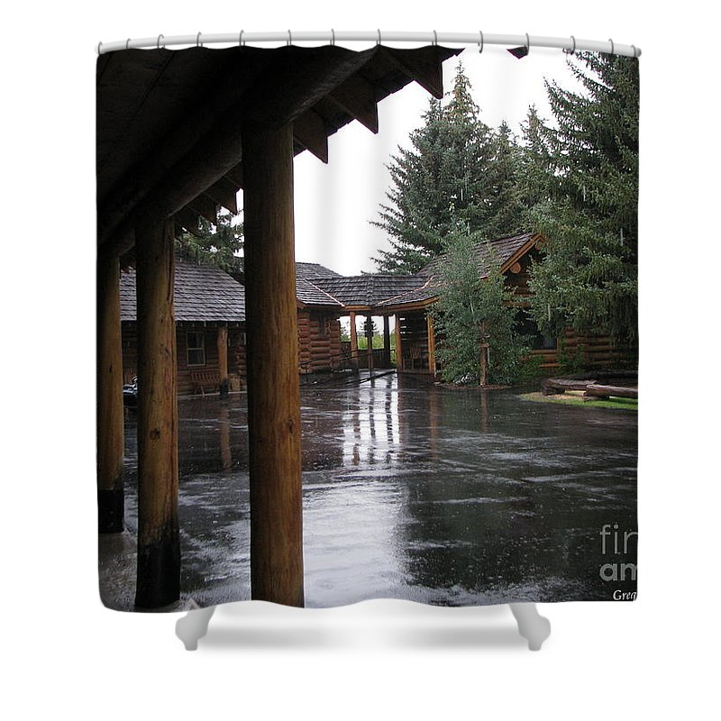 Patzer Shower Curtain featuring the photograph Parking Lot by Greg Patzer