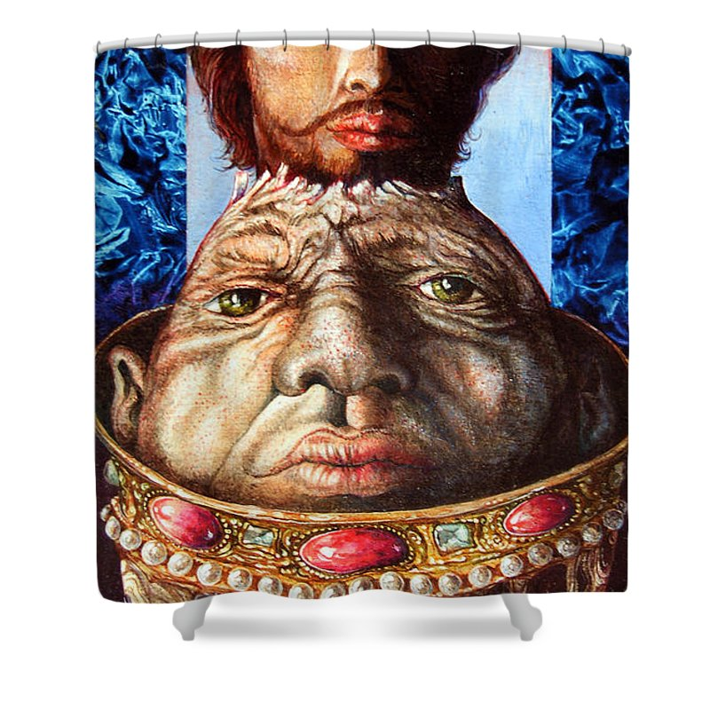 Surrealism Shower Curtain featuring the painting Parthenogenesis II by Otto Rapp