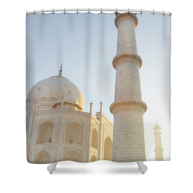 Arch Shower Curtain featuring the photograph Partial View Taj Mahal by Grant Faint