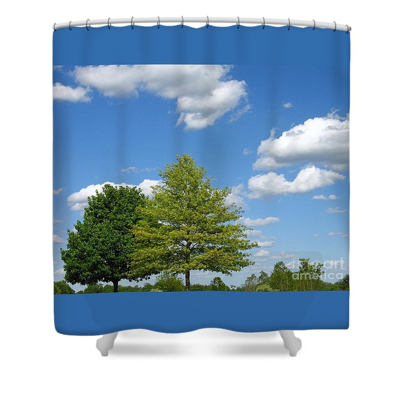 Sky Shower Curtain featuring the photograph Partly Cloudy Day by Ann Horn